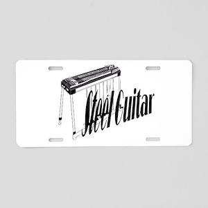 Steel Guitar Aluminum License Plate