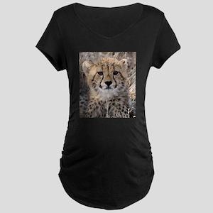 Cheetah Cub Maternity Dark T-Shirt