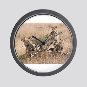 Cheetah Family Wall Clock