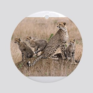 Cheetah Family Ornament (Round)