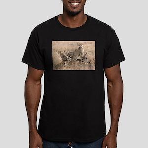 Cheetah Family Men's Fitted T-Shirt (dark)