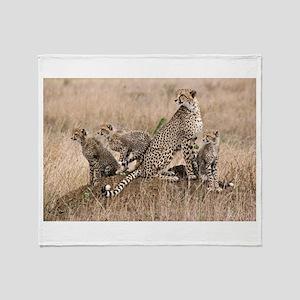 Cheetah Family Throw Blanket