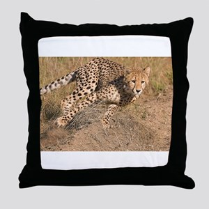 Cheetah On The Move Throw Pillow