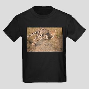 Cheetah On The Move Kids Dark T-Shirt