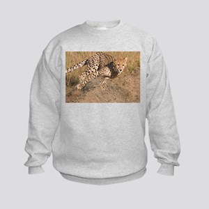 Cheetah On The Move Kids Sweatshirt