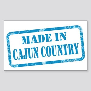 MADE IN CAJUN COUNTRY Sticker (Rectangle)