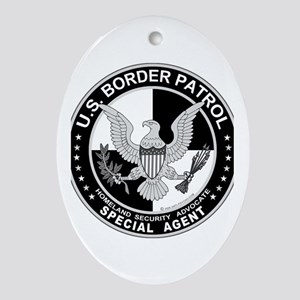 CloseThe US Border Patrol SpA Oval Ornament