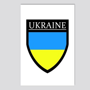 Ukraine Flag Patch Postcards (Package of 8)