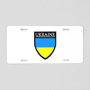 Ukraine Flag Patch Aluminum License Plate