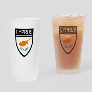 Cyprus Flag Patch Drinking Glass
