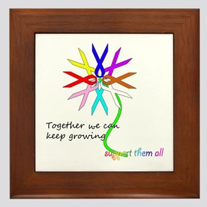 Support All Cancer Framed Tile