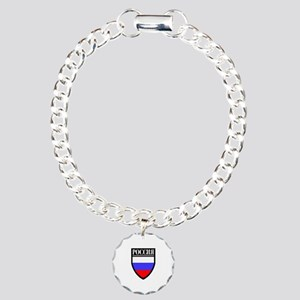 Russia (in Russian) Patch Charm Bracelet, One Char
