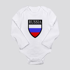 Russia Flag Patch Long Sleeve Infant Bodysuit