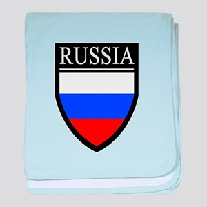 Russia Flag Patch baby blanket