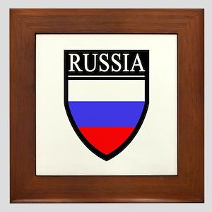 Russia Flag Patch Framed Tile