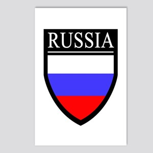 Russia Flag Patch Postcards (Package of 8)