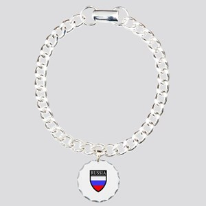 Russia Flag Patch Charm Bracelet, One Charm