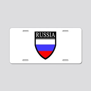 Russia Flag Patch Aluminum License Plate