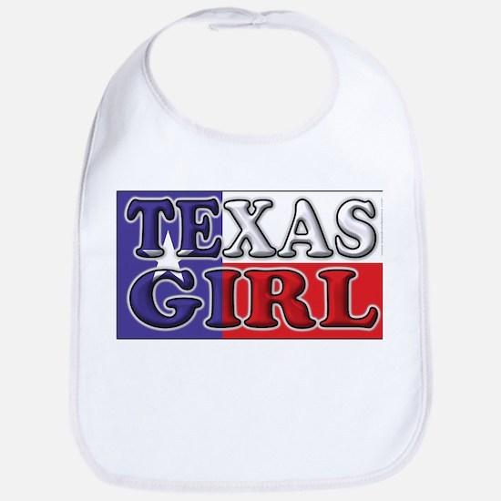 Texas Girl with Flag Bib