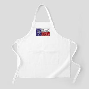 Texas Girl with Flag BBQ Apron