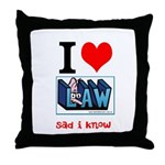 Law student's Throw Pillow