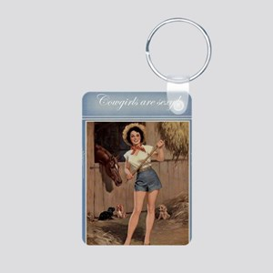 Cowgirls are Sexy Aluminum Photo Keychain