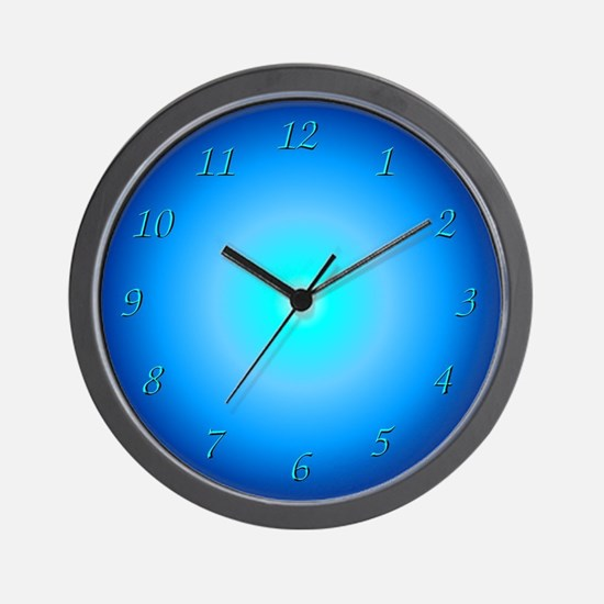 """Neon Blue Pattern"" Wall Clock"