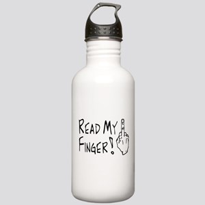 Read My Finger Stainless Water Bottle 1.0L