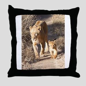 Tsalala Female And Cub Throw Pillow