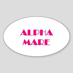 Alpha Mare Sticker (Oval)