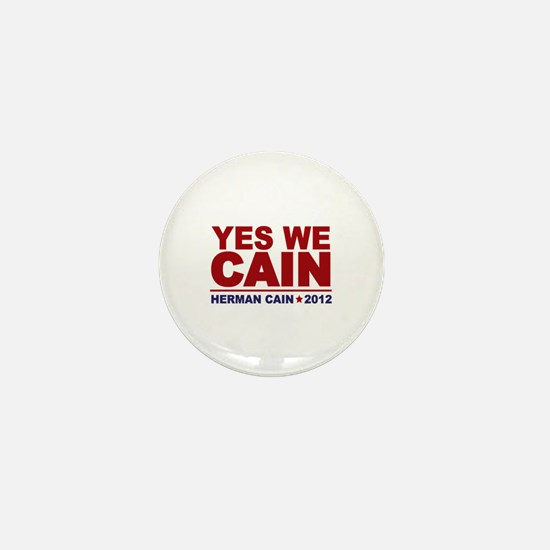 Yes We Cain 2012 Mini Button