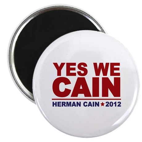 """Yes We Cain 2012 2.25"""" Magnet (100 pack)"""
