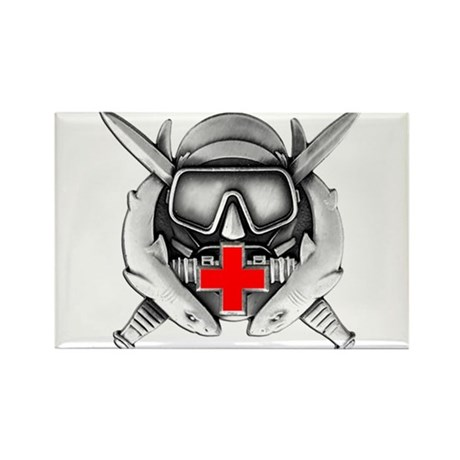 Diving Medical Technician Rectangle Magnet
