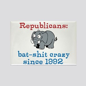 Bat-shit Crazy GOP Rectangle Magnet