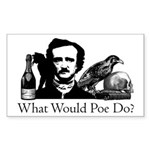 What Would Poe Do? Sticker (Rectangle 10 pk)