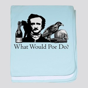 What Would Poe Do? baby blanket