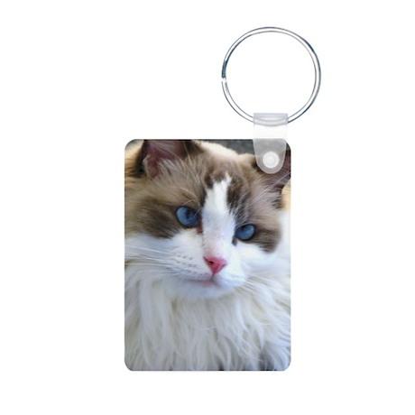 Ragdoll Cat Aluminum Photo Keychain