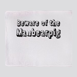 Beware of the Manbearpig Throw Blanket