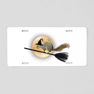 Witch Squirrel Aluminum License Plate
