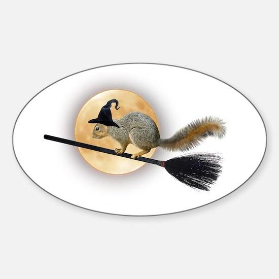 Witch Squirrel Sticker (Oval)
