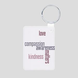 Kindness Matters Aluminum Photo Keychain