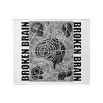 Broken brain Throw Blanket