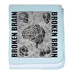 Broken brain baby blanket