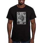 Broken brain Men's Fitted T-Shirt (dark)