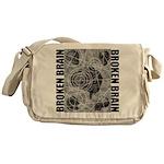 Broken brain Messenger Bag