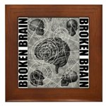 Broken brain Framed Tile