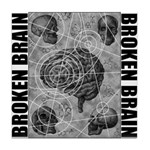 Broken brain Tile Coaster