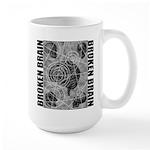 Broken brain Large Mug