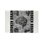 Broken brain Rectangle Magnet