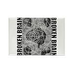 Broken brain Rectangle Magnet (10 pack)